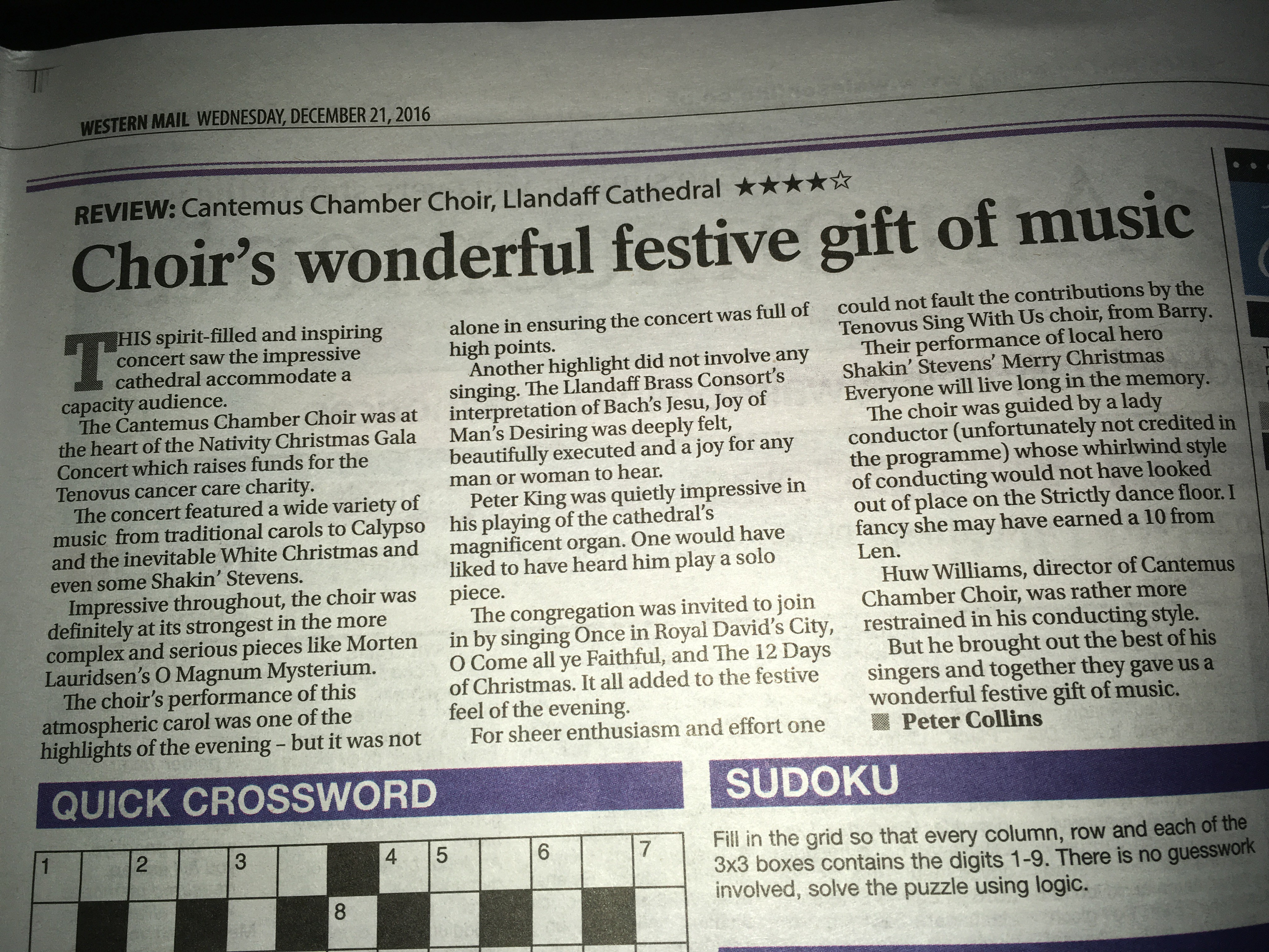 Our four-star review in the Western Mail